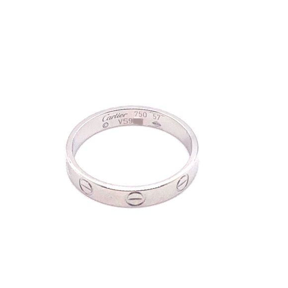 Cartier Jewelry - Cartier 18k white gold slim love ring